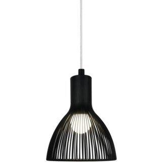 Czarna lampa wisząca Emition - Nordlux - DFTP - ażurowy klosz