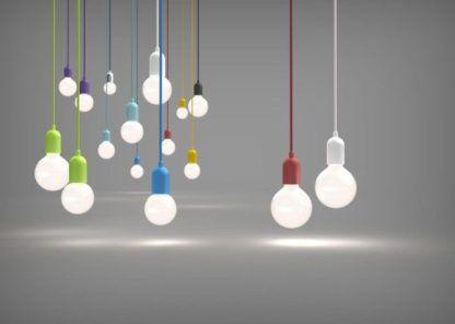kolorowe zawieszenia do lamp wiszących