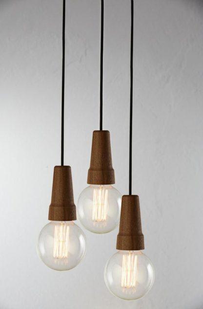 drewniane zawieszenie do lamp wiszących, drewniane, małe lampy wiszące do żarówek edisona