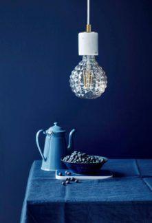 Minimalistyczna lampa wisząca Siv - Nordlux - biały marmur
