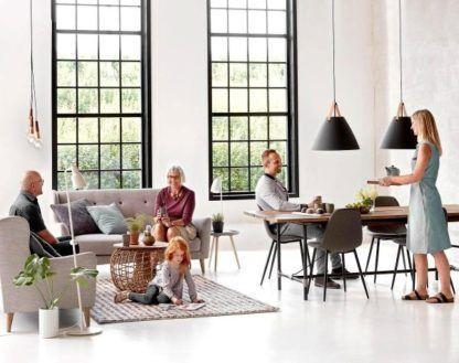 dekoracyjne zawieszenie do żarówki, styl skandynawski - aranżacja salon