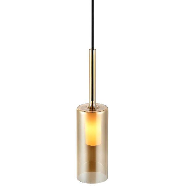 Szklana lampa wisząca Turid - Nordlux - złota