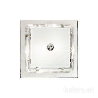Luksusowy plafon Ontario - Kolarz - szkło kryształowe, srebrny