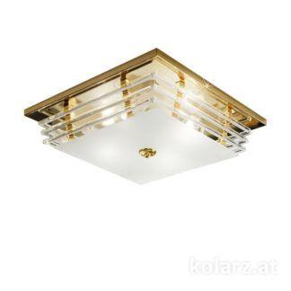 Luksusowy plafon Ontario - Kolarz -złoty, kryształowe szkło