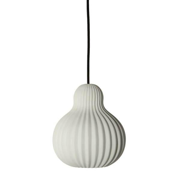 Ceramiczna Lampa Wisząca Snowbell Frandsen Lighting Biała Scandi