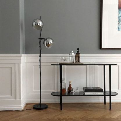 lampa podłogowa srebrne klosze