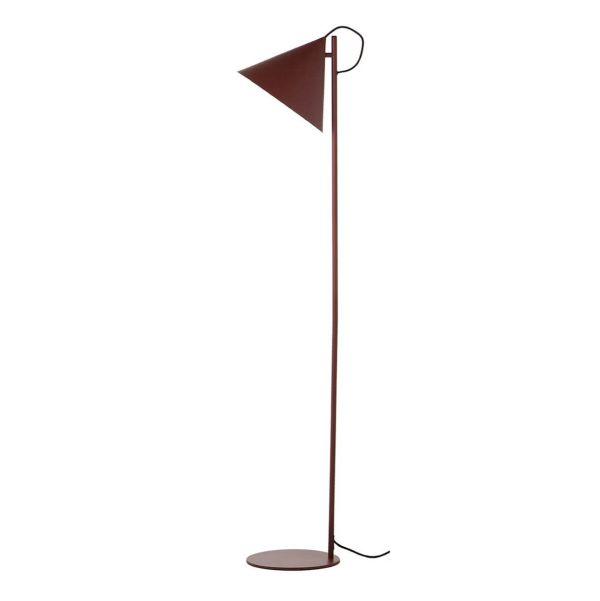 bordowa lampa podłogowa styl nowoczesny , metalowa