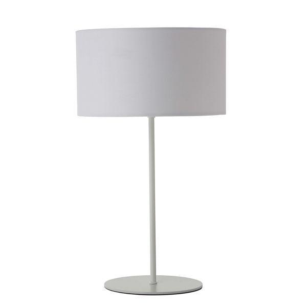 Elegancka lampa stołowa Cylinder - Frandsen Lighting - biały abażur