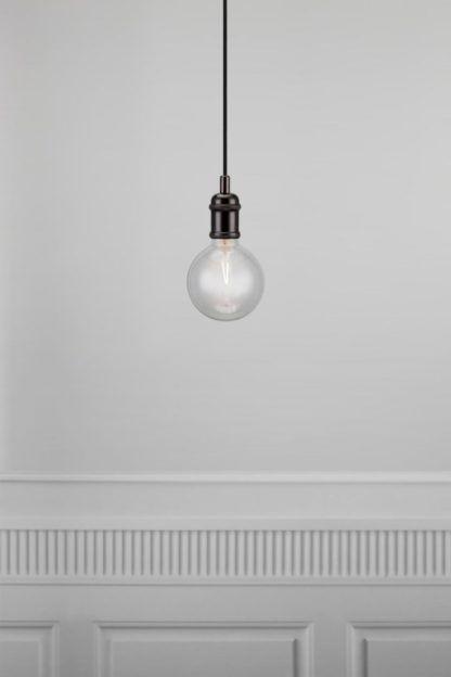 czarna lampa wisząca, industrial, metalowa