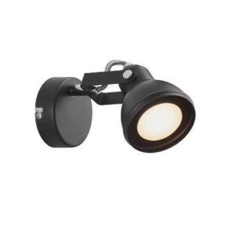 Metalowy kinkiet Aslak - Nordlux - czarny reflektor