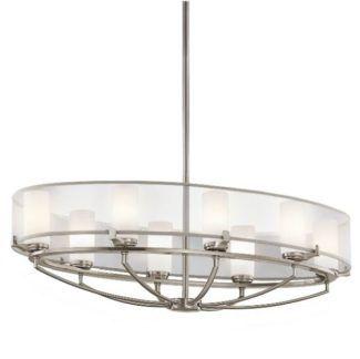 Klasyczna lampa wisząca Astoria owalna - modern classic - srebrna, szklana