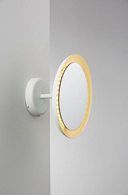 lusterko łazienkowe z panelem led dookoła, białe