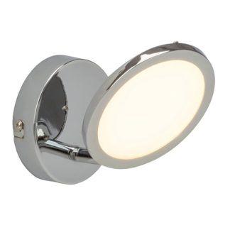 Nowoczesny kinkiet Pluto - Endon Lighting - srebrny, mleczny dyfuzor