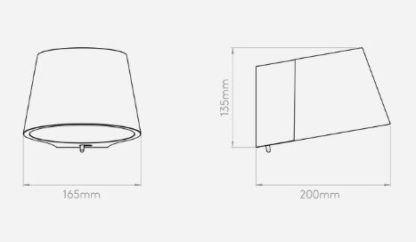 nowoczesny, biały kinkiet z włącznikiem
