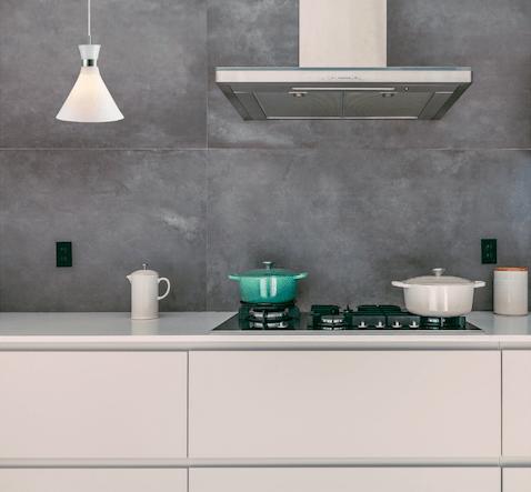 nowoczesne lampy z tworzywa białego kuchenne