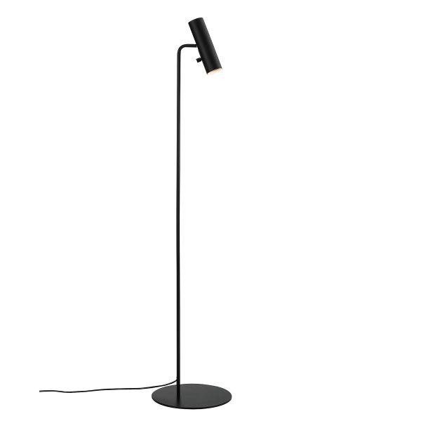 minimalistyczna lampa podłogowa czarna, metalowa