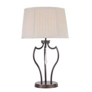 Elegancka lampa stołowa Gemma - Ardant Decor - brąz