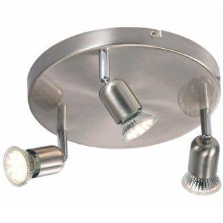 okrągła lampa sufitowa Avenue - Nordlux - srebrna, 3 reflektory