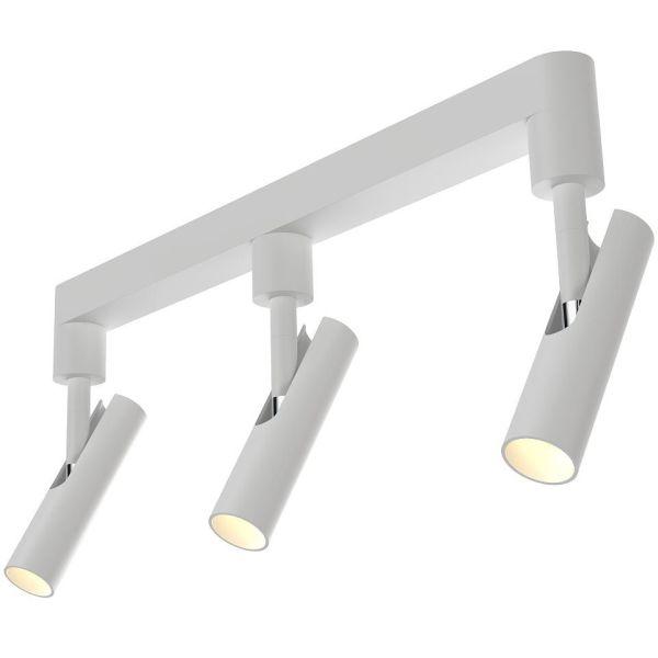 lampa sufitowa designerska z trzema, podłużnymi kloszami tubami