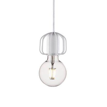 białe, dekoracyjne zawieszenie do lamp wiszących