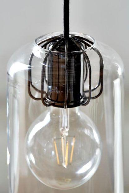 dekoracyjne, nowoczesne zawieszenie do lampy wiszącej, czarne