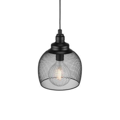 czarna, druciana lampa wisząca