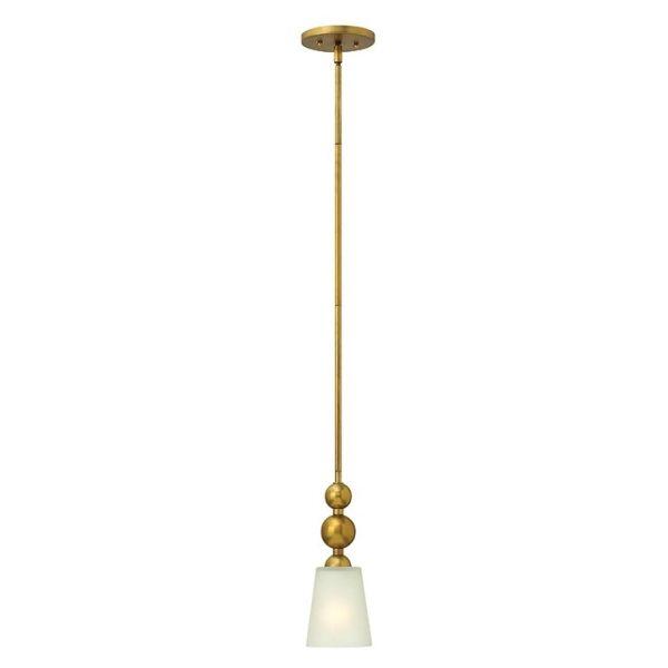 lampa wisząca zmałym, szklanym kloszem