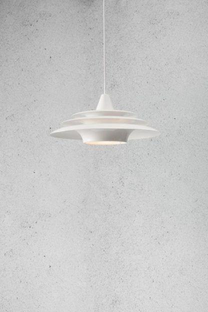 nowoczesna lampa wisząca, biała, pierścienie saturna