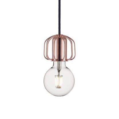 nowoczesna lampa wisząca, miedź, zawieszenie do lamp