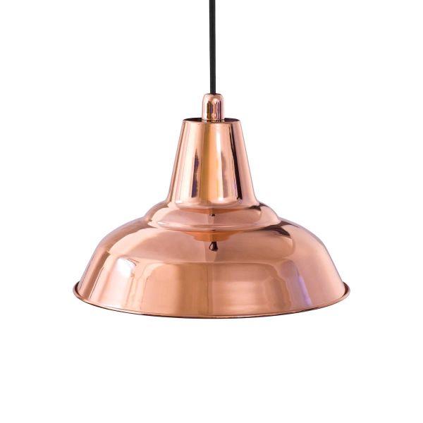 miedziana lampa wiszaca, nowoczesna, industrialna