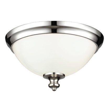 klasyczny plafon ze szklanym kloszem