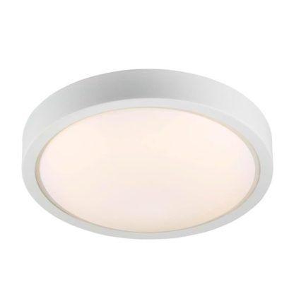 nowoczesny plafon z białym kloszem i szklanym, białym dyfuzorem