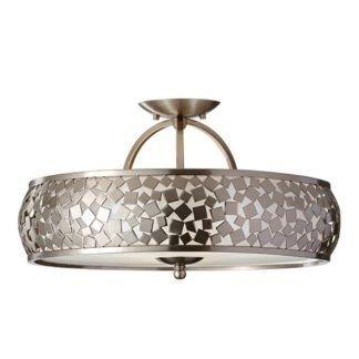 Metalowa lampa sufitowa Wonder - Ardant Decor - srebrna