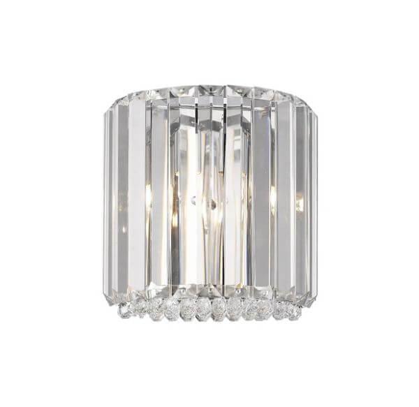 elegancki kinkiet z pionowych kryształków styl nowoczesny glamour
