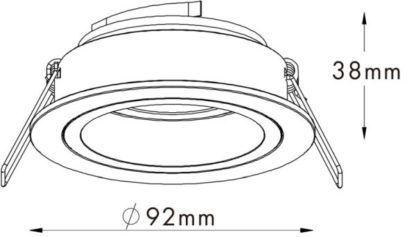 nowoczesne oczko sufitowe wpuszczane w tynk