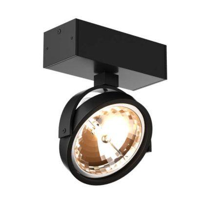 nowoczesny reflektor sufitowy z regulowanym kloszem