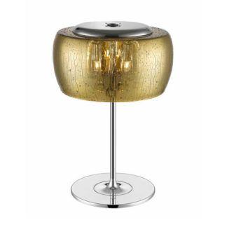 Lampa stołowa Rain - Zuma Line -  efekt kropli, złota