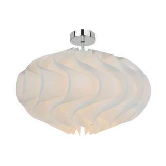 Nowoczesna lampa sufitowa Aggeo - Zuma Line - białe tworzywo