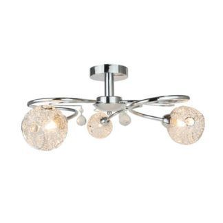 Dekoracyjna lampa sufitowa Cloe - Zuma Line - srebrna, szklane klosze