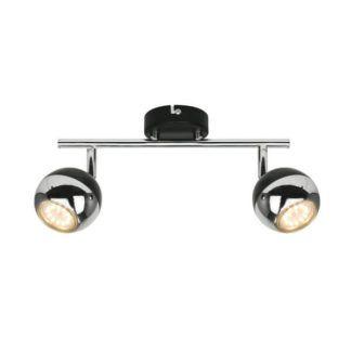 Nowoczesna lampa sufitowa Gaster - Zuma Line - dwa reflektory, chrom, czarna
