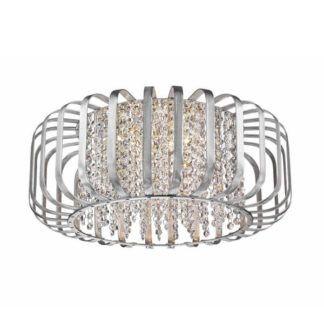 Oryginalna lampa sufitowa Kano - Zuma Line - srebrna, kryształki