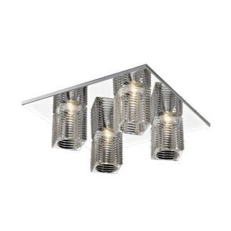 Nowoczesna lampa sufitowa Laura - szklane klosze
