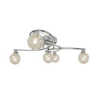 Lampa sufitowa Nicola - Zuma Line - srebrna podstawa, szklane klosze
