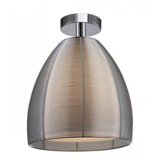 Oryginalna lampa sufitowa Pico - szklany klosz, srebrna obudowa