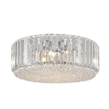 kryształowy plafon w stylu glamour, pionowe kryształy