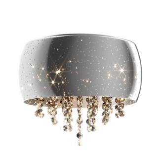 Lampa sufitowa Vista - Zuma Line - srebrna, dekoracyjne kryształki