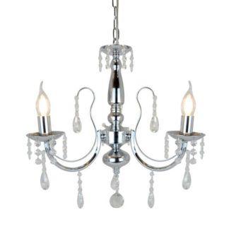 Elegancki żyrandol Albi - Zuma Line - srebrny świecznik