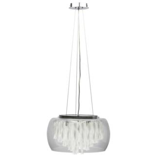 Lampa wisząca Biagio - Zuma Line - szklany klosz, kryształki