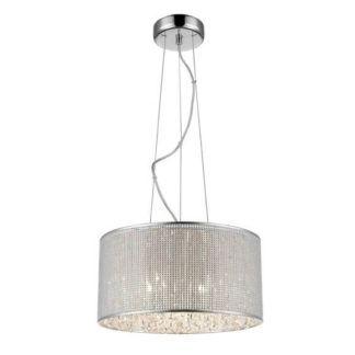 Lampa wisząca Blink - Zuma Line - połyskujący klosz, kryształki
