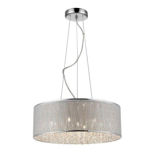 kryształowa, okrągła lampa wisząca